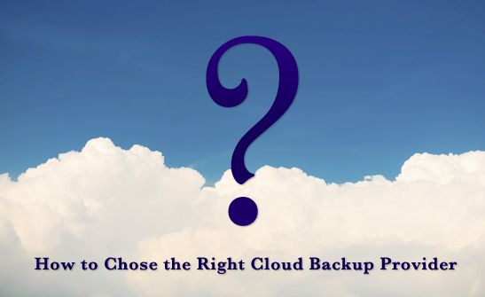 Choose right backup provider guide