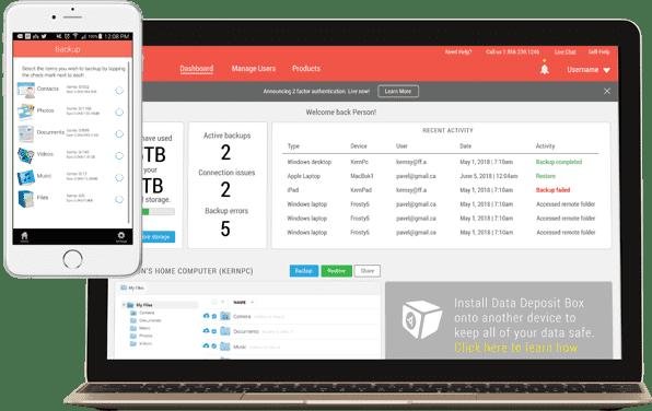 Business Cloud Backup Management Portal