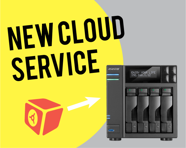 ASUSTOR and DataDepostiBox New Cloud Service